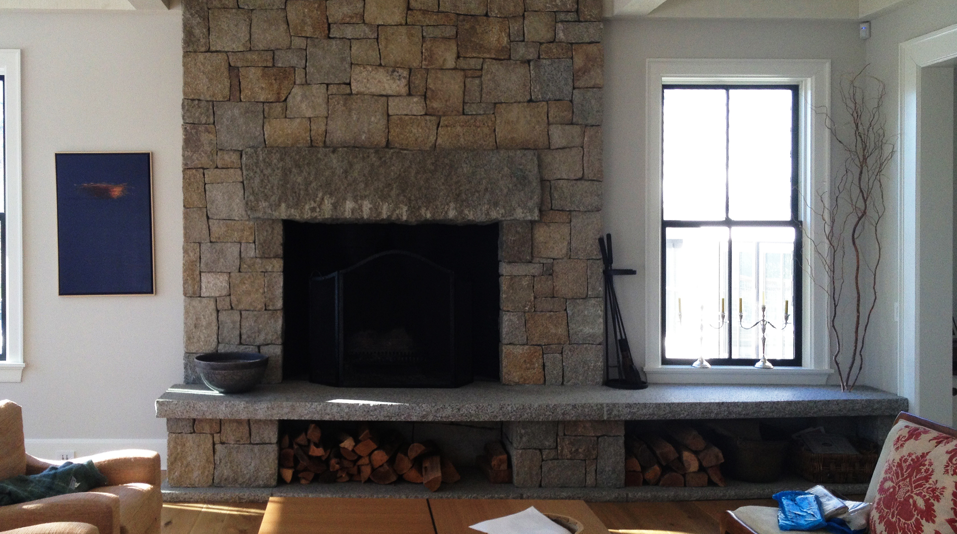 SplitFaceFireplace